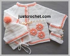 THIS PATTERN IS AVAILABLE IN USA FORMAT ONLY Coat, boots and hat to fit size approx 18 chest, 3 - 6 month baby MATERIALS Worsted weight #3 4.0mm & 5.00mm Crochet Hooks Small buttons Ribbon My patterns are copyright protected and are for your own personal use only, they are not to be