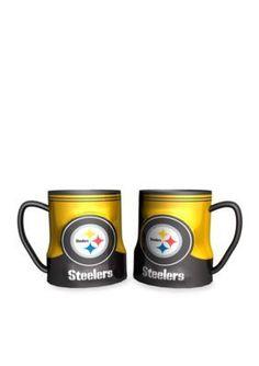NFL Pittsburgh Steelers 2 Pack Gametime Coffee Mug Set