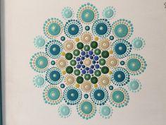 Pintura de acrílico Mandala original Valerie por ValsMandalas