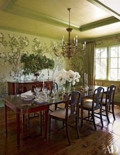 A Jack Pierson painting blooms at the opposite end of the master suite in this Dutchess County, New York, estate.