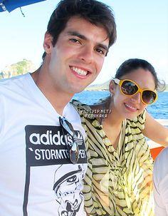 Kaka and his wife Carol in Brazil