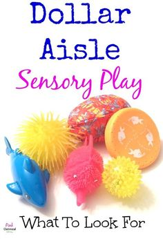 Dollar Aisle Sensory Play.  What to look for in regards to sensory play while in the dollar aisle or at the dollar store! - Pink Oatmeal