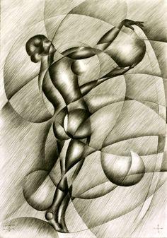 Roundism - 22-09-15, graphite on paper (A3), see more: www.corneakkers.com Sales info: info@corneakkers.com. See more: www.corneakkers.com. Follow me at twitter: @Corne_Akkers #nude #art #arts #kunst #woman #model #Corné # Corne #Akkers #dutch #drawing #tekening #cubistic #kubisme #cubismo #cubisme #kubistisch #cubism #art deco #dessin #crayon #arte #arta #artista #artist #artiste #kunstenaar #rondisme #roundism