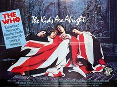 """affiche de cinéma Anglaisqe originale de 1979 avec le groupe """"The Who""""...76x102 cm"""