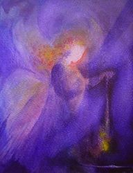 Angelo by Nina Mother Painting, Spiritual Paintings, Angel Art, Christmas Art, Love And Light, Art And Architecture, Illustration, Watercolor Paintings, Art Prints