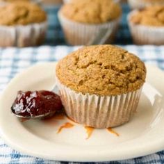 These blueberry muffins come together in a minute or two, and are a delicious whole wheat way to start your weekend off right!