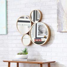 4 Circle Iron Mirror