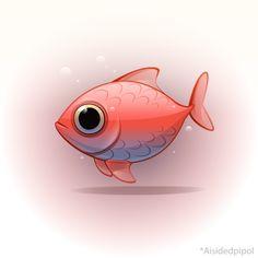 30 years by ~Aisidedpipol on deviantART Cute Monster Illustration, Art Et Illustration, Cartoon Drawings, Animal Drawings, Pet Anime, Character Art, Character Design, Art Mignon, Cartoon Fish