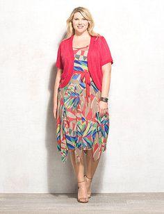 Plus Moda Women\'s Plus Size Racerback Dress With Side Bungee Cord ...