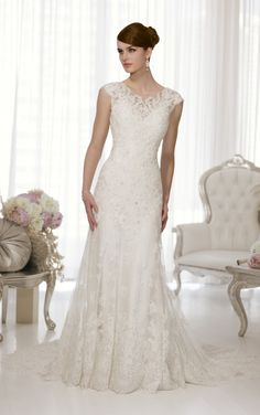 D1549 Sheath Wedding Dresses by Essense of Australia