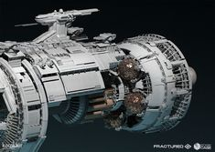 Edge Case Games - flagship overview by Mike Hill on ArtStation. Spaceship Concept, Spaceship Design, Concept Ships, Mike Hill, 3d Printer Designs, Space Battles, Sci Fi Ships, Space Pirate, Aircraft Design