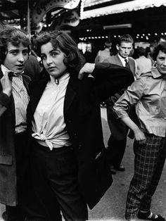 Teddy Girls at Batterse Fun Fair, 1956 (Roger Mayne)