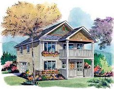 Any Style House Plans - 1128 Square Foot Home , 2 Story, 2 Bedroom and 1 Bath, 2 Garage Stalls by Monster House Plans - Plan 40-596