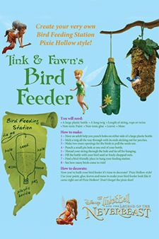 Bird feeder craft | Tinker Bell and the Legend of the NeverBeast Free Printables, Activities and Crafts! | SKGaleana #Tinkerbell