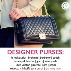 MOST WANTED: Designer purses! Get CASH on the Spot for your Louis Vuitton Gucci Fendi Michael Kors Kate Spade B Makowsky and many more! #cmlook #news