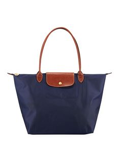 Shop Le Pliage Large Shoulder Tote Bag from Longchamp at Neiman Marcus Last Call, where you'll save as much as on designer fashions. Work Tote, Work Bags, Large Tote, Large Bags, Longchamp, Suede Tote Bag, Large Shoulder Bags, Cloth Bags, Shoulder Handbags