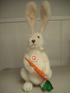 In my eBay shop ~ Steiff Fritzle Rabbit ~ Music Box/Head Rotation ~ Ltd Edition ~ 16 inches tall
