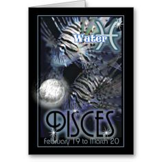 Pisces Zodiac birthday card