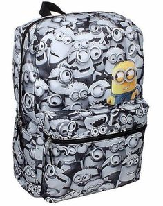 Despicable Me Minions Backpack School Bag COMICS Print Minion All over NEW  #DespicableMeMinions #Backpack
