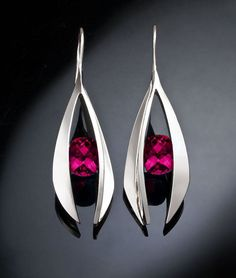 statement earrings - rhodolite garnet earrings - January birthstone - dangle - red - fine jewelry -2495 on Etsy, US$281.00