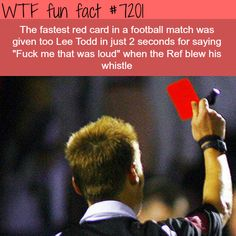 Fastest red card in football history - WTF Fun Fact