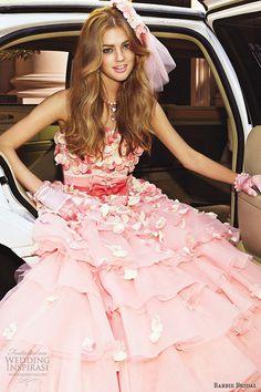 http://weddinginspirasi.com/2014/06/13/barbie-bridal-wedding-dresses-eleventh-bridal-collection/  Barbie #Bridal 2014: #pink #wedding dress style bb0132 #weddinggown #weddingdress