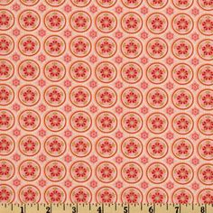 Picadilly Lane Floral Dots Peach