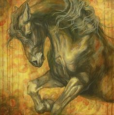 Horse Painting - Unleashed by Silvana Gabudean Dobre Horse Wall Art, Equine Art, Stretched Canvas Prints, Framed Prints, Beautiful Horses, Cool Artwork, Art Sketches, Fine Art America, Canvas Art