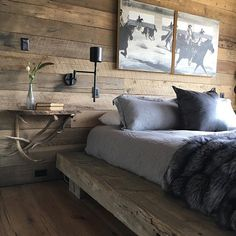 Love this master bedroom from the shoot we completed Friday! Thanks #Audreyhall #lovethismontanalife #escapetheordinary #bigskymontana #pearsondesigngroupinteriors #longweek #customfurniture #masterbedroom #visionswest #art