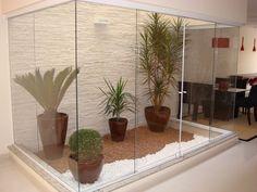 Jardim de inverno todo de vidro