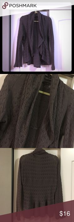 Cardigan sweater Purple-ish grey cardigan sweater. Not heavy. Good condition! Very Cozy! 100 percent cotton. Tracy M. Sweaters Cardigans