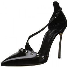 Casadei Women's Milano Blade Van Argento Dress Pump, Nero, 37 EU/7 M US