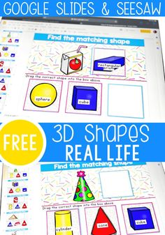 Explore real world shapes! Shape Activities Kindergarten, 3d Shapes Activities, Learning Shapes, Classroom Activities, Fun Learning, Learning Resources, Kindergarten Blogs, Preschool, Classroom Decor