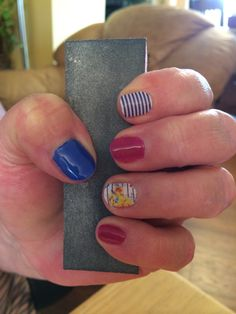 Navy skinny and Flirty Flair Jamberry Nails