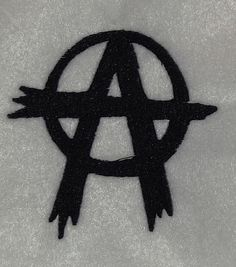 Anarchy embroidery design file by RustyNeedleDesigns on Etsy, $3.75