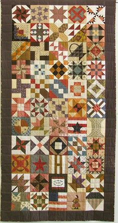 Civil War Quilts to fit cots: Side By Side Sampler