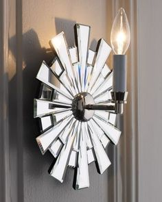 Mirrored Sconce ... Horchow