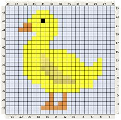 The Craft Co.: Crochet Charts & written instructions for FREE. Yellow Duck