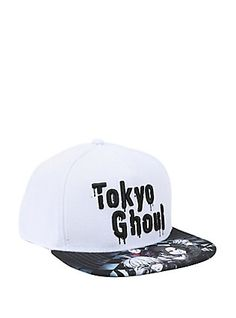 Tokyo Ghoul White Crown Sublimation Bill Snapback Hat 6370bdccc7b