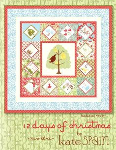 Items similar to 12 Days of Christmas Quilt Kit SALE on Etsy Twelve Days Of Christmas, Christmas Tree Themes, Christmas Crafts, Christmas Quilt Patterns, Easy Quilt Patterns, Christmas Wall Hangings, Quilted Ornaments, Quilted Throw Blanket, Patchwork Fabric