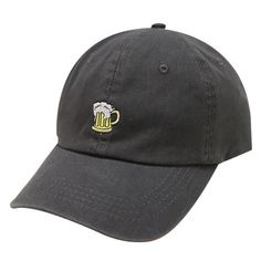 25d8ddff63a Capsule Design Beer Dad Cap in Charcoal ~100% Cotton ~Adjustable Strap w