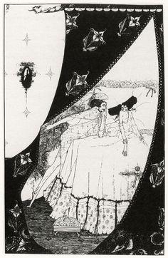 The Dream, Pope, The Rape of Lock, 1913  by the Irish illustrator Harry Clarke, circa 1910–1930