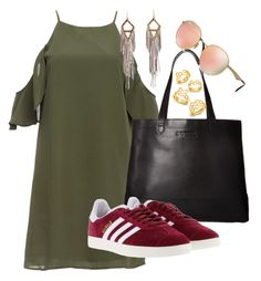 """""""Untitled #69"""" by rcjulifs on Polyvore featuring DailyLook, SOREL, adidas, Ray-Ban and BaubleBar"""