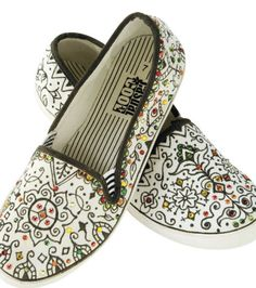 Shoe Art on Canvas Shoes | Doodle Shoe Design inspiration from Joann.com