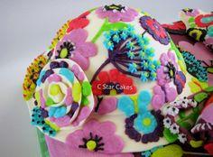 "Vera Bradley Baby Sun Hat in ""Flutterby"" by C Star Cakes"