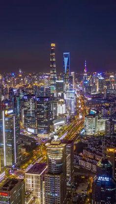 Shanghai Night, Shanghai City, Shanghai Skyline, City Skylines, City Landscape, Night City, Future City, Sustainable Architecture, Live Wallpapers