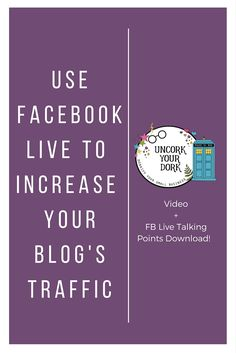 If you're ready to jump on the Facebook Live train (or at least ready to dig your tow in) Check out this post I've put together with new ways to utilize the platform for increased traffic...PLUS a free talking points checklist!