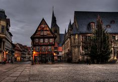 Christmas time at Quedlinburg, East Germany