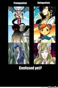 A picture from Google that shows how scary the protagonists in Fairy Tail can look compared to the antagonists.