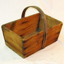 Homemade Gathering Basket/Box, Great Primitive Look